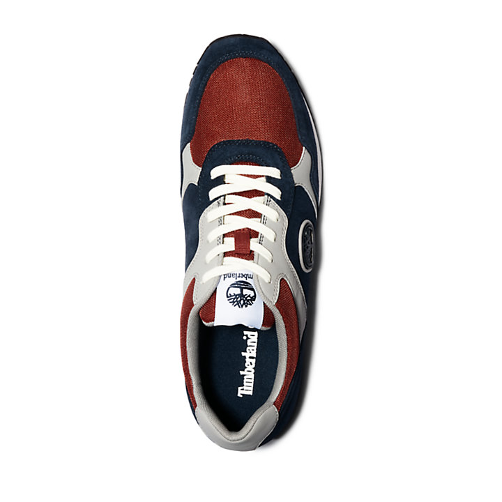 Retro Runner Sneaker for Men in Navy-