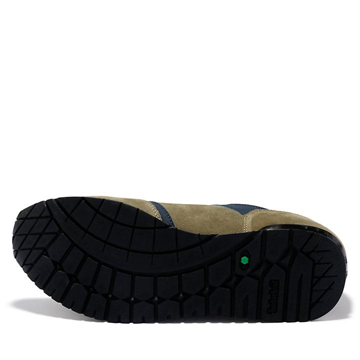 Retro Runner Sneaker for Men in Green-