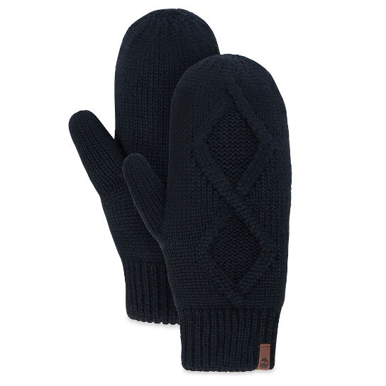 Cable Knit Mittens negro mujer | Timberland