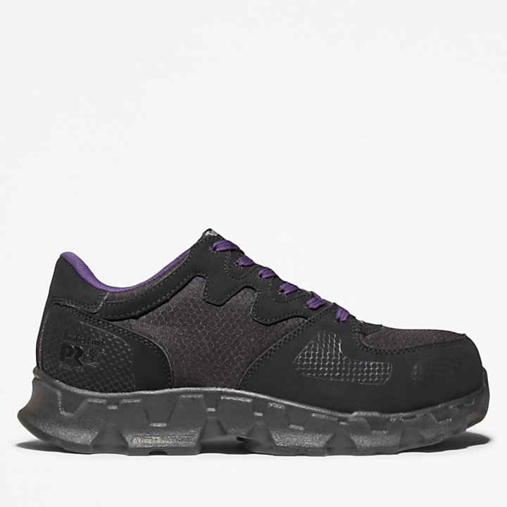 Women's Pro Powertrain Sneaker Black and Violet-