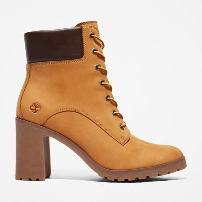 Allington+6+Inch+Lace-Up+Boot+voor+Dames+in+geel