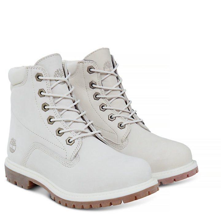 Waterville 6 Inch Boot for Women in White-