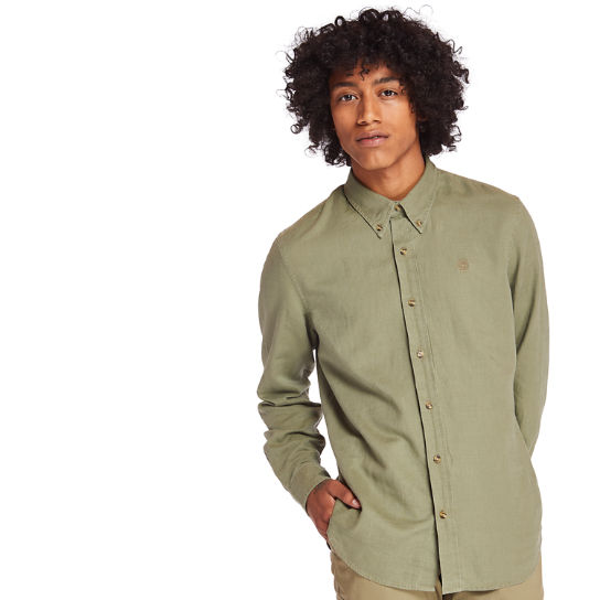 Lovell River Linen Shirt for Men in Green | Timberland