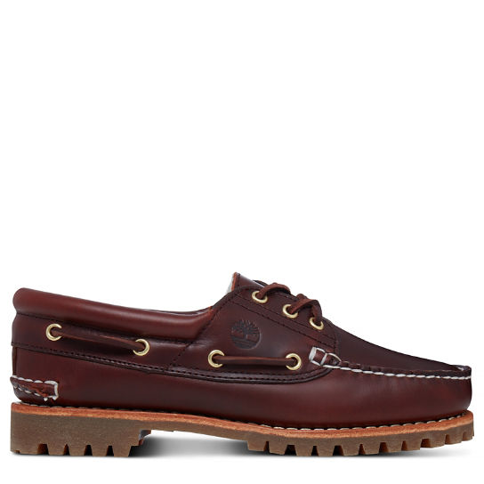 Noreen Lined 3-Eye Boat Shoe Bordeauxrood Dames | Timberland