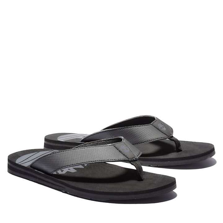Wild Dunes Thong Sandal for Men in Black-