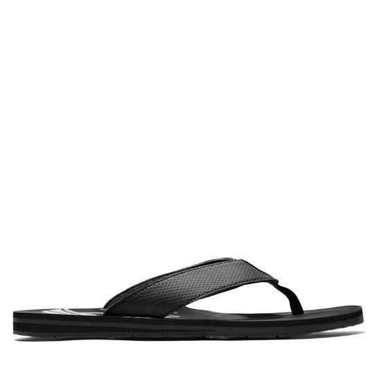 Wild Dunes Thong Sandal for Men in Black | Timberland