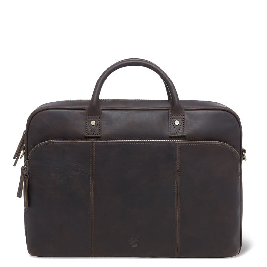 Tuckerman Slim Briefcase Dark Brown | Timberland