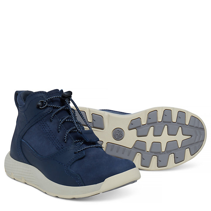 Flyroam™ High Top Sneaker for Youths in Navy-