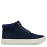 Navy Nubuck W/ Wool Collar