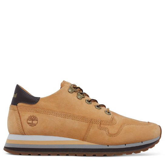 Women's Antwerp Air Leather Trainer Yellow | Timberland