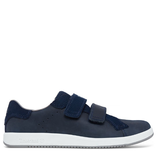 Courtside Hook-and-Loop Oxford para niño (de 35,5 a 40) Azul marino | Timberland