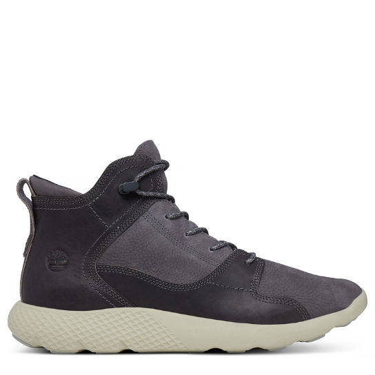 Herren Flyroam Leather Sneakerboot D-Grau | Timberland