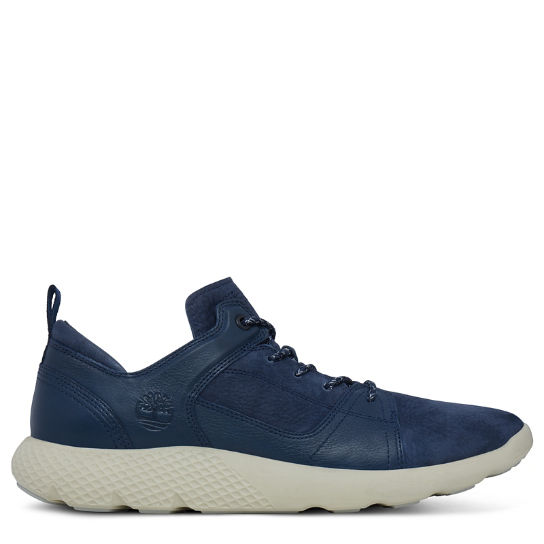 Men's Flyroam Leather Trainer Navy | Timberland