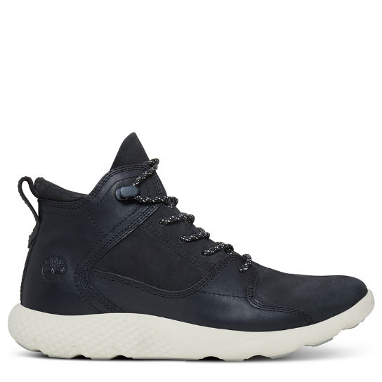 Women's Flyroam Leather Sneakerboot Jet Black | Timberland