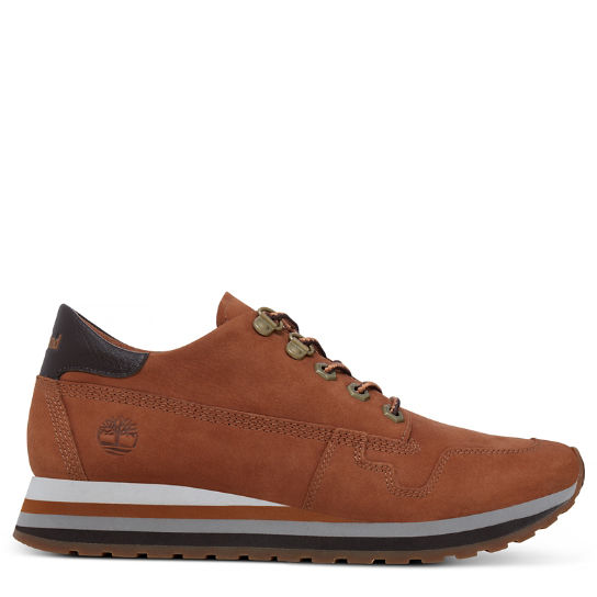 Women's Antwerp Air Leather Trainer Rust | Timberland