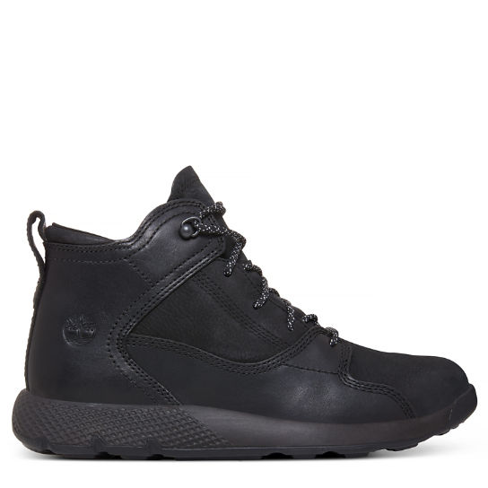 Flyroam™ High Top Sneaker for Juniors in Black | Timberland