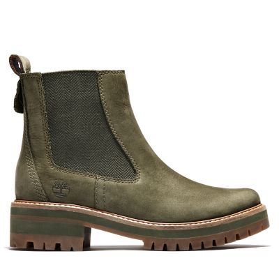 Courmayeur+Valley+Chelsea+Boot+voor+Dames+in+groen