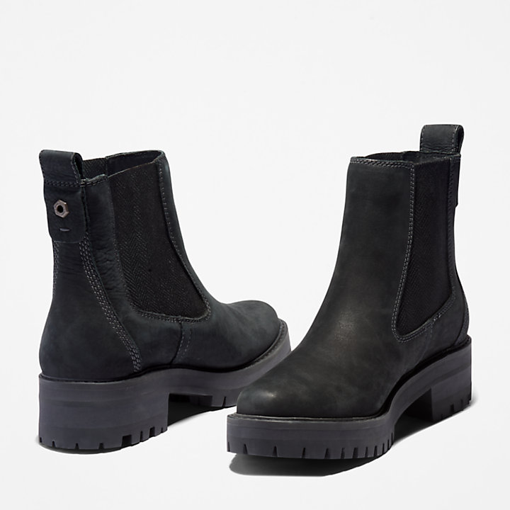 Courmayeur Valley Chelsea Damenstiefel in Schwarz