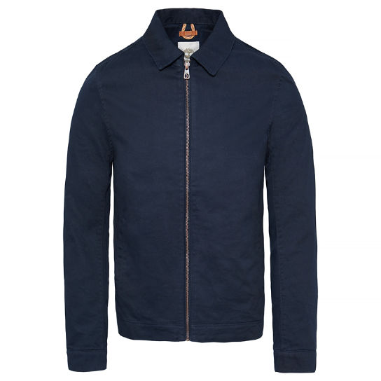 Stratham - Men's Cotton Bomber Jacket Navy | Timberland