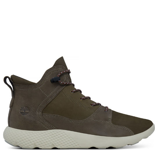 Flyroam Leather Sneakerboot Verde scuro Uomo | Timberland