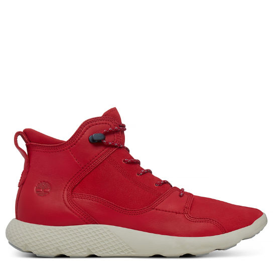 Men's Flyroam Leather Sneakerboot Red | Timberland
