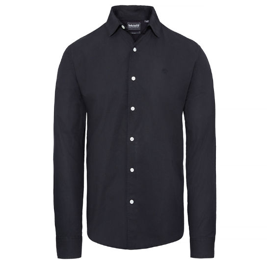Suncook River Popelin Shirt Heren Zwart | Timberland