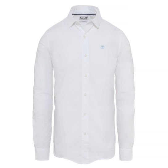 Men's Suncook River Poplin Shirt White | Timberland