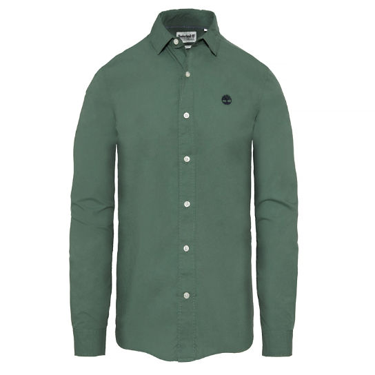 Men's Suncook River Poplin Shirt Green | Timberland