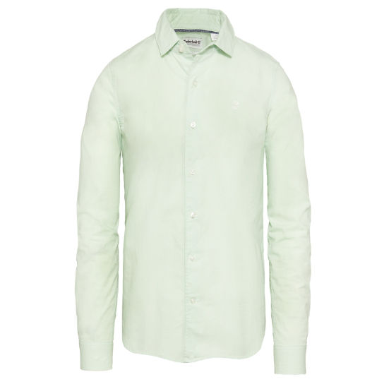 Men's Suncook River Poplin Shirt Light Green | Timberland