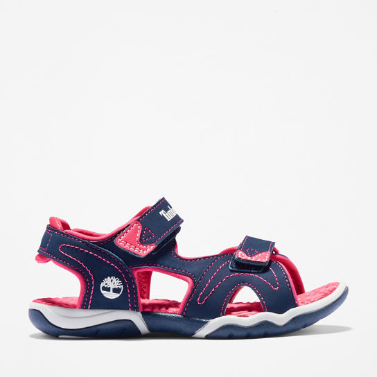 Adventure Seeker Sandal for Junior in Navy/Pink | Timberland