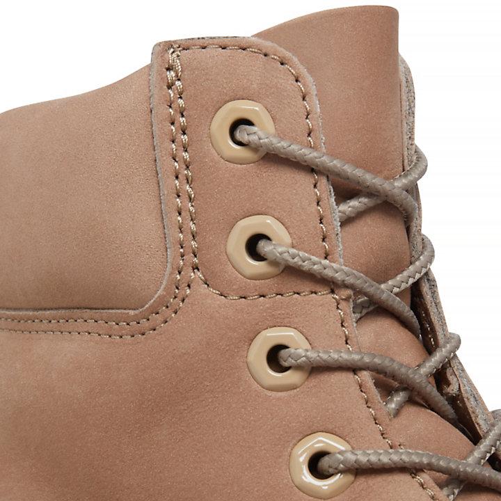 Premium 6-Inch Stiefel für Damen in Beige-
