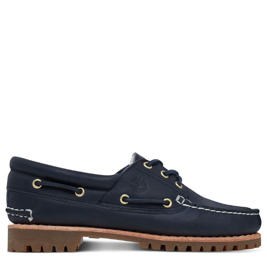 Women's Noreen Lined 3-Eye Boat Shoe Navy | Timberland