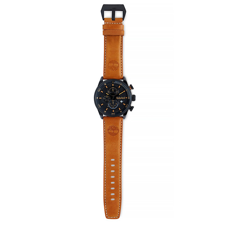 Henniker II Watch for Men in Black/Light Brown-