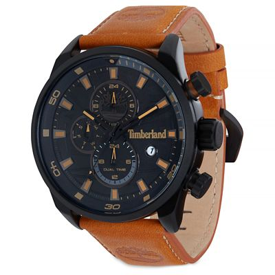 Henniker+II+Watch+for+Men+in+Black%2FLight+Brown