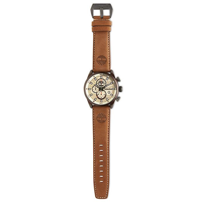 Herren Henniker II Armbanduhr Weiß/Braun-