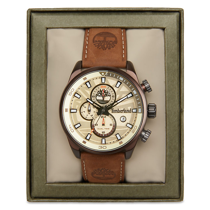 Henniker II Watch Homme blanche/marron-