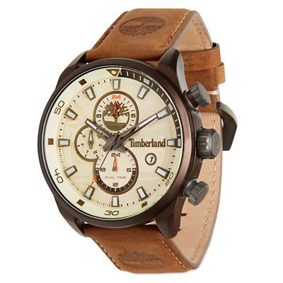 Men%E2%80%99s+Henniker+II+Watch+White%2FBrown
