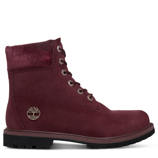 Women's Velvet 6-Inch Boot Port Red | Timberland