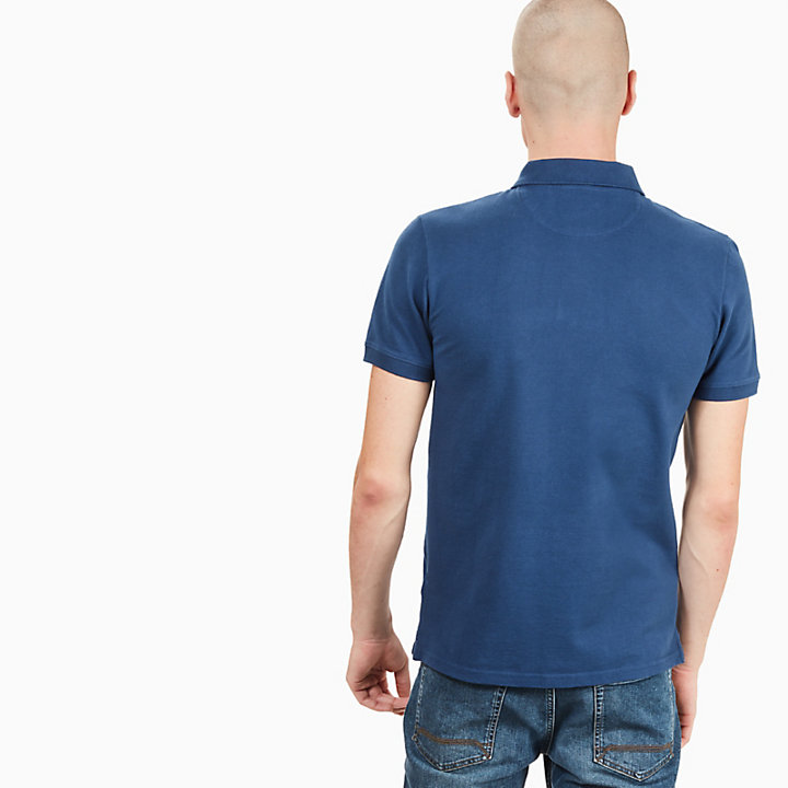 Merrymeeting River Polo Shirt for Men in Indigo-