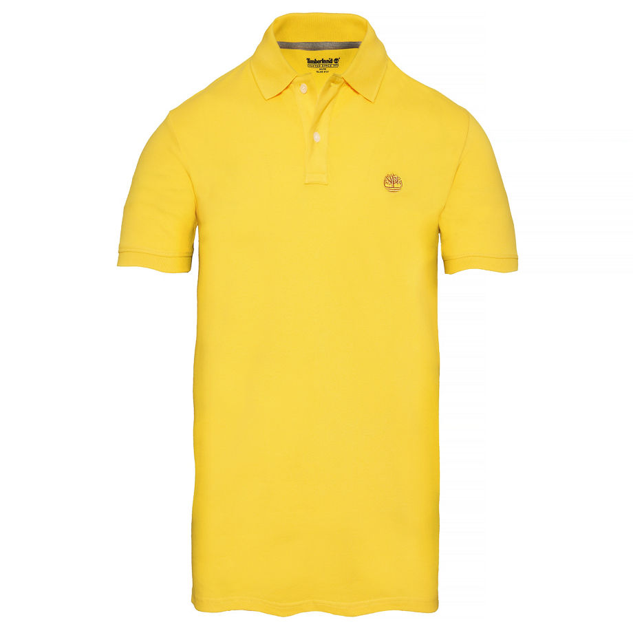Timberland Men's Merrymeeting River Polo Shirt Yellow Yellow, Size M