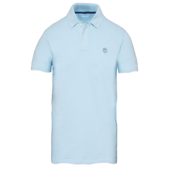Men's Merrymeeting River Polo Shirt Pale Blue | Timberland