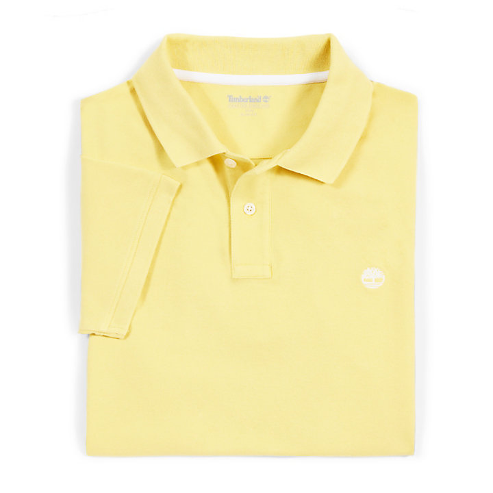 Merrymeeting River Polo Shirt for Men in Yellow-