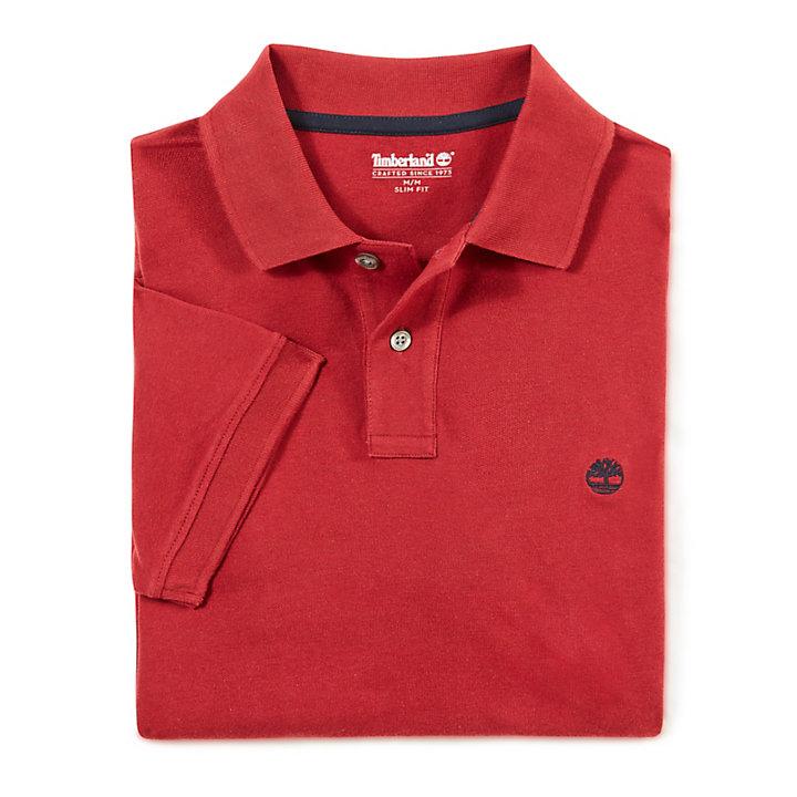 Merrymeeting River Poloshirt voor Heren in Rood-