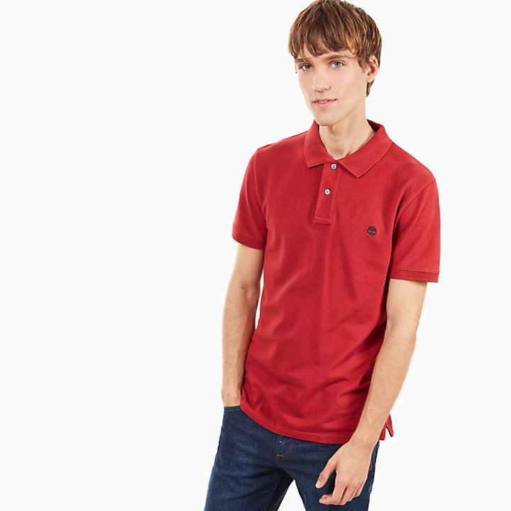 Merrymeeting River Polo Shirt for Men in Red-