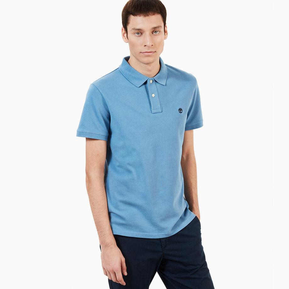 Timberland Merrymeeting River Polo Shirt For Men In Light Blue Light Blue, Size XXL
