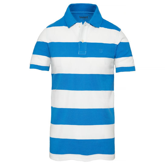 Millers River Stripe Polo Shirt Blauw Heren | Timberland