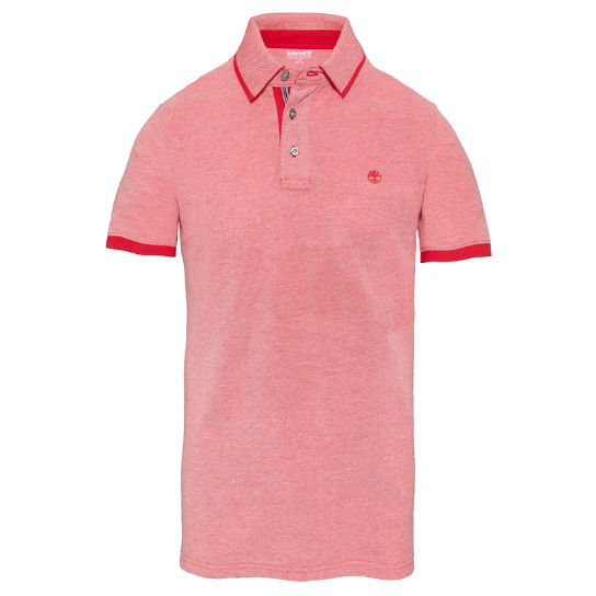 Millers River Oxford Polo Shirt Rood Heren | Timberland