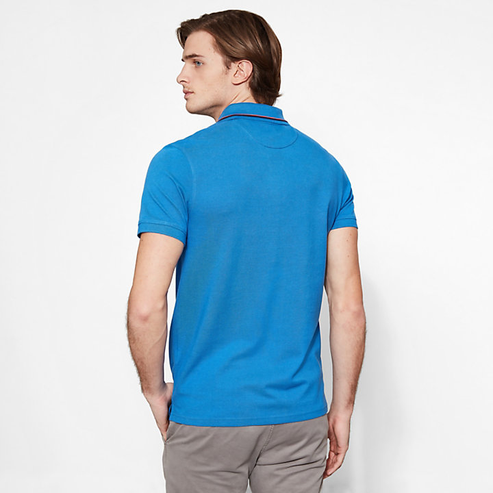 Millers River Polo Shirt Blu MC Uomo-