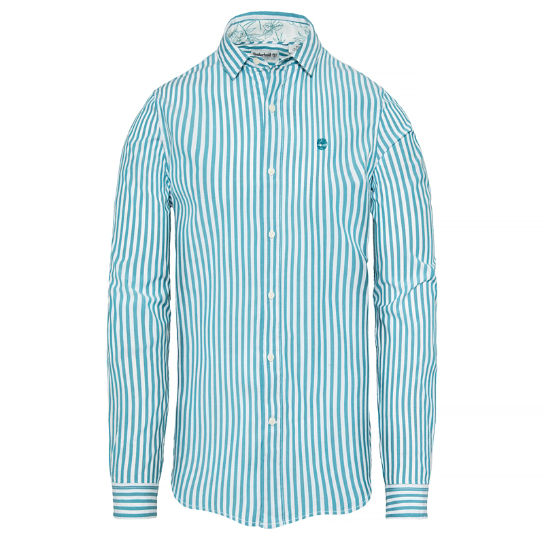Suncook River Striped Shirt Heren Groenblauw | Timberland