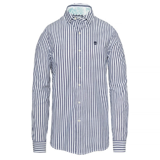 Herren Suncook River Striped Shirt Blau | Timberland
